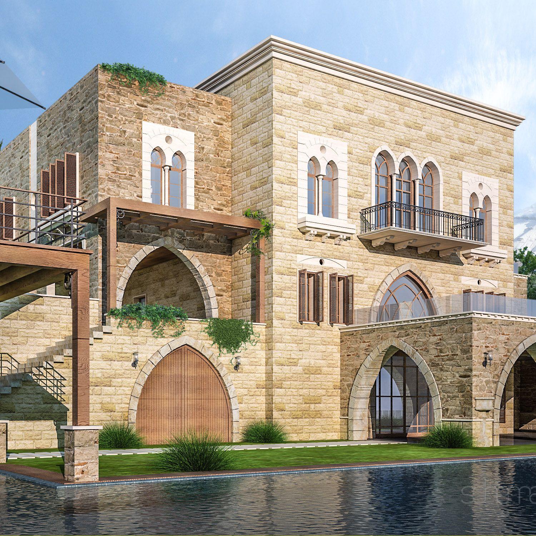Architecture schema seven pinterest liban for Maison prefabriquee liban