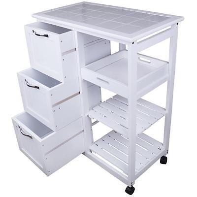 Küchenwagen Holz Servierwagen Küchentisch Rollwagen Küchentrolley ...