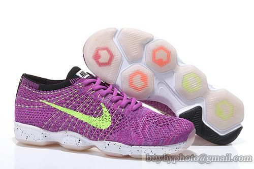 cc6de2f8e280 Women s Nike Zoom Fit Agility Flyknit 6.0 2015 Nike Running Shoes Purple  Fluorescent Green 698616-601