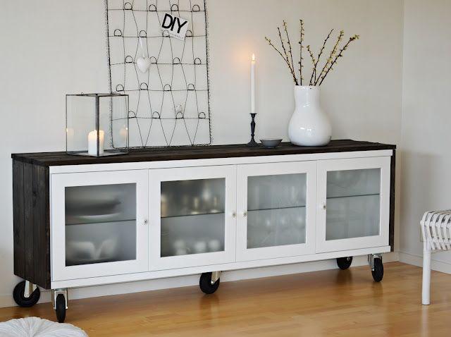 Ikea hack antes y despu s de un aparador bonde x4duros - Transformar muebles ikea ...