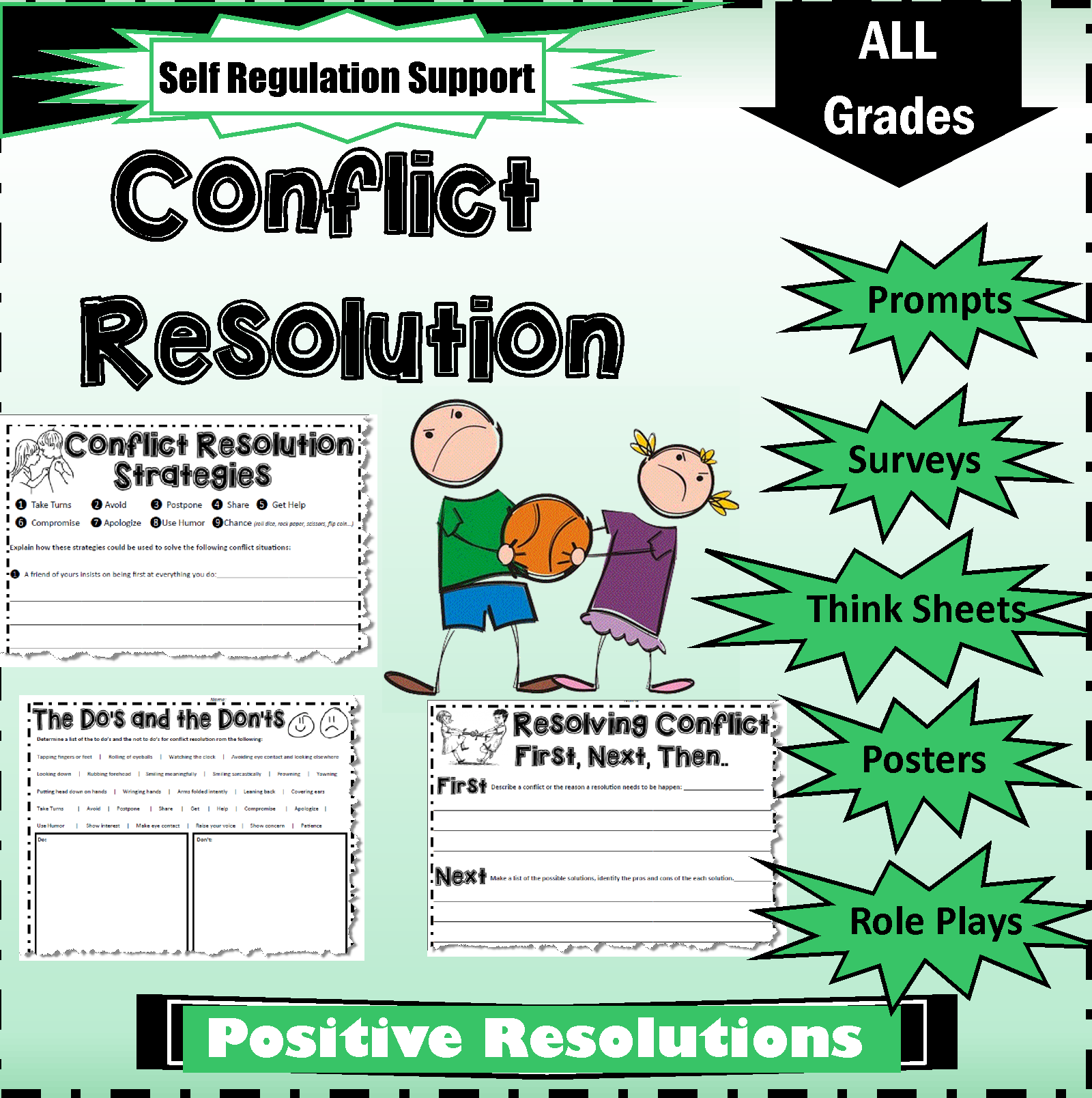 Conflict Resolution Teaching Ideas And Printable