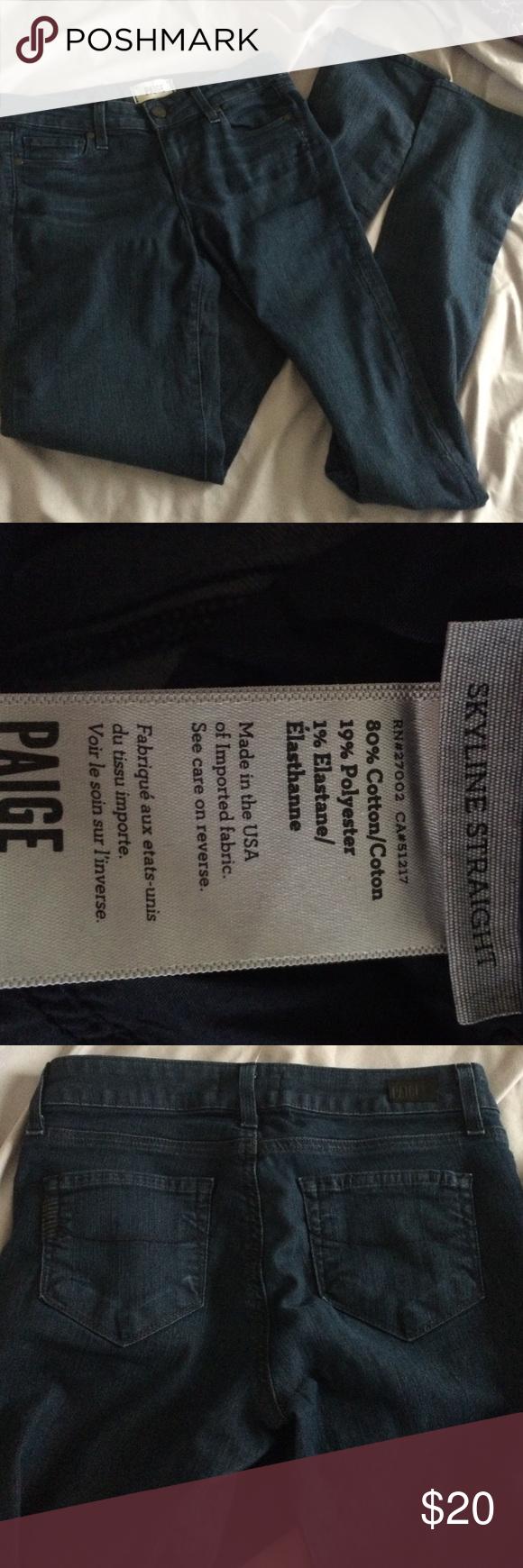 Paige skyline straight jeans Size 26 Paige Jeans Jeans Straight Leg