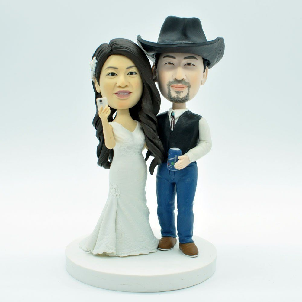 Wedding Bee DIY Funny Cake Topper,Wedding Bobbleheads,Personalized ...