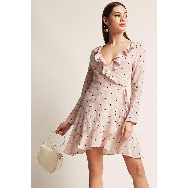 8b32bca003 Forever21 Selfie Leslie Polka Dot Dress ( 48) ❤ liked on Polyvore featuring  dresses