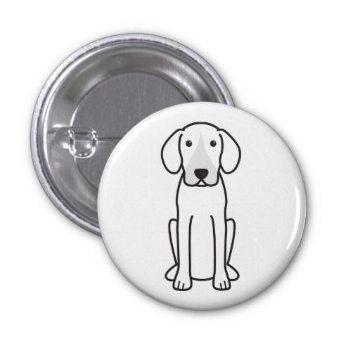 Harrier Dog Cartoon Pinback Button