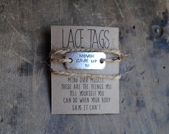 a5cf9b9eb9eaf NEVER GIVE UP Single Shoe lace Charm. Running Motivation | XC ideas ...