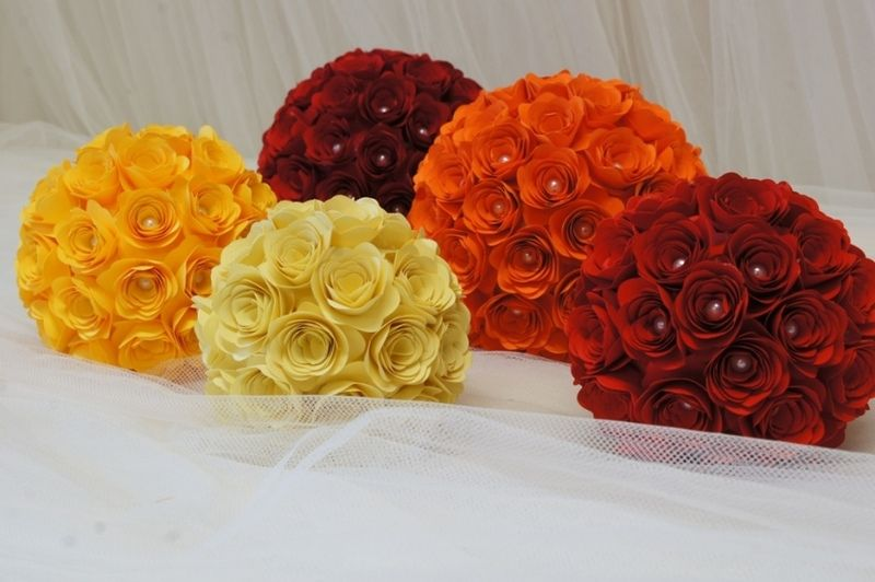 Set+5+Sfere+di+Rose+in+Cartoncino+-Su+ordinazione-+di+PaperLoveFantasy+su+DaWanda.com