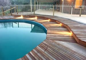 wood decks around swimming pools | wooden pool deck one of the