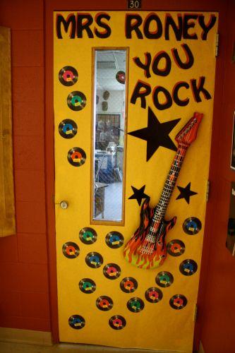 You Rock Teacher Door Idea Teacher Appreciation Door Decorations