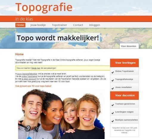 topografie in de klas: gratis online methode om topografie te leren