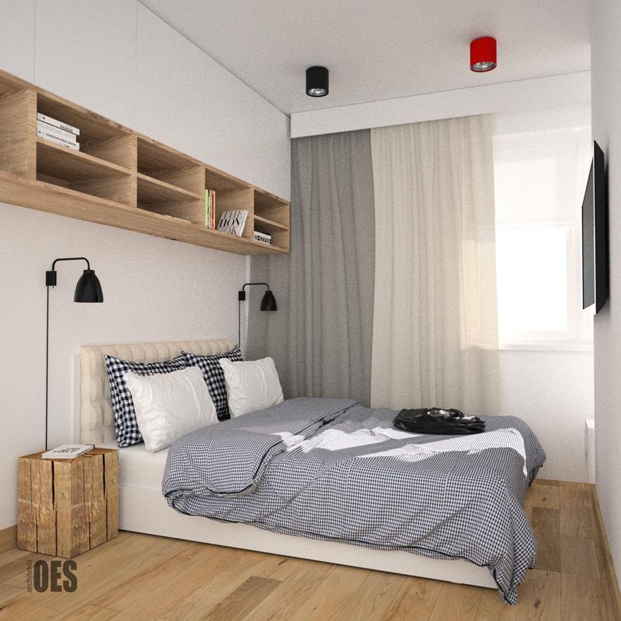 Mała Jasna Sypialnia Wnętrza Modern Bedroom Bedroom Room