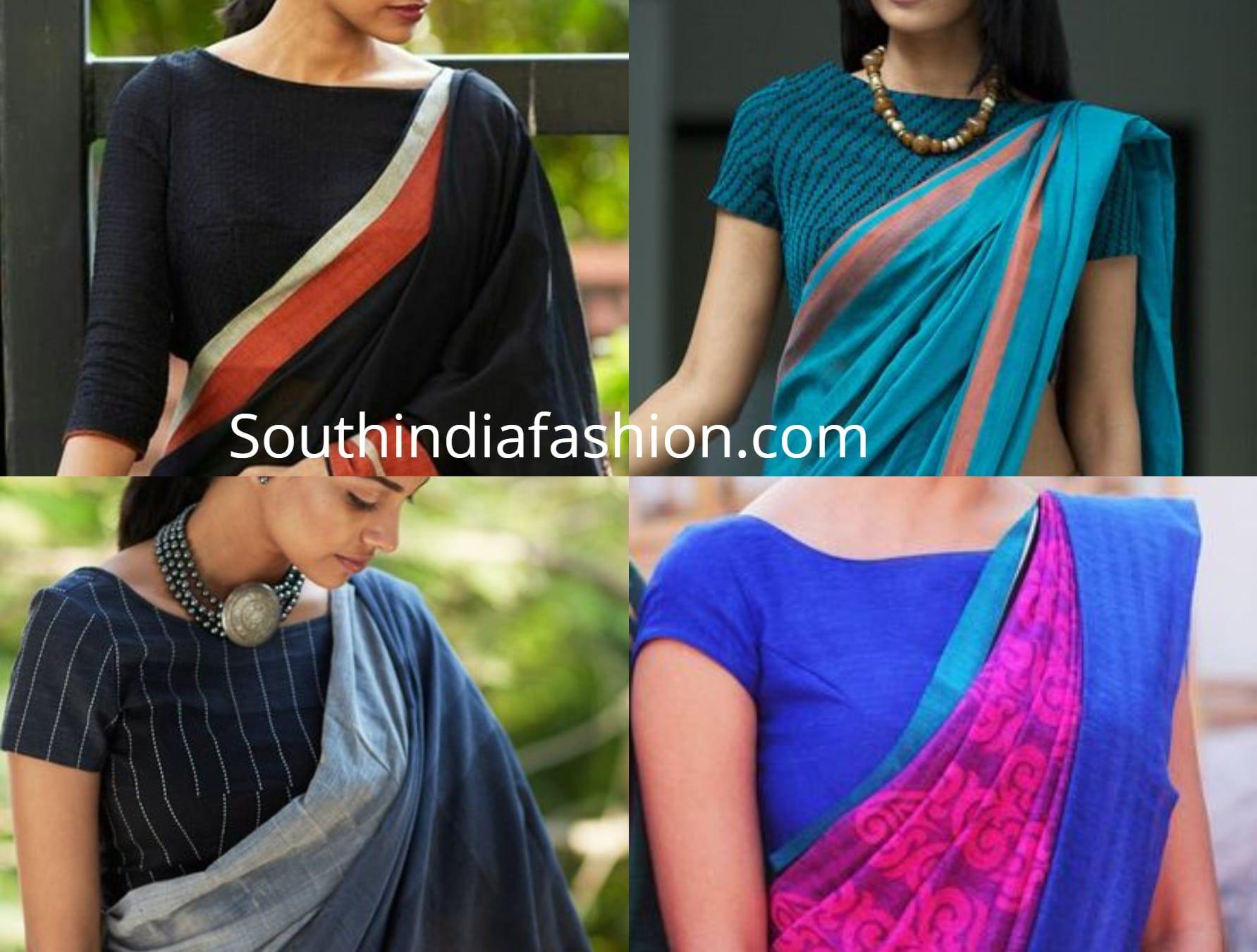 Office Wear Saree Blouse Designs Saree Jacket Designs Blouse