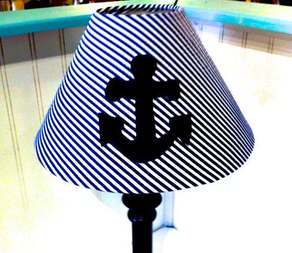 Nautical Anchor Lamp Shade Navy Blue
