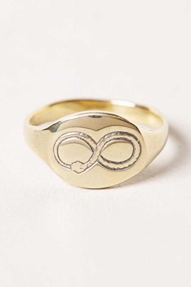 Anthropologie Oval Signet Ring uyiSv9