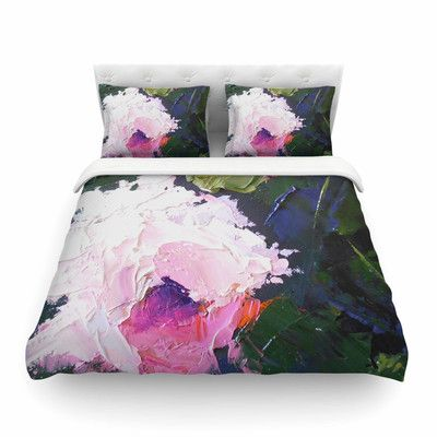 East Urban Home Textured Rose Painting Featherweight Duvet Cover Size: Full/Queen