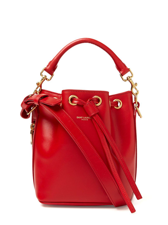 250a7668e038 Emmanuelle Small Leather Bucket Bag by Saint Laurent Paris at Gilt $1039  #Decadent