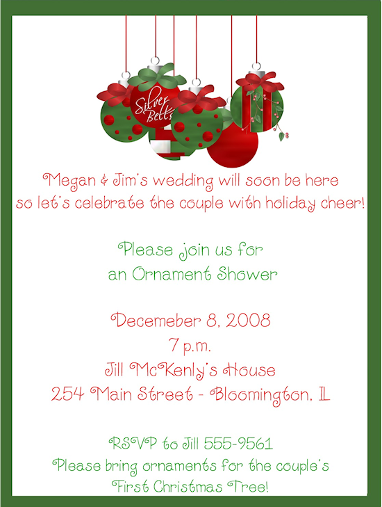 christmas shower invitations