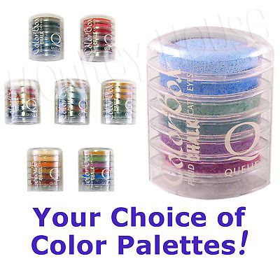 QUEUE Colorbox FLUID CHALK inkpad stackable stamp pad Q cat's eyes 6 per set
