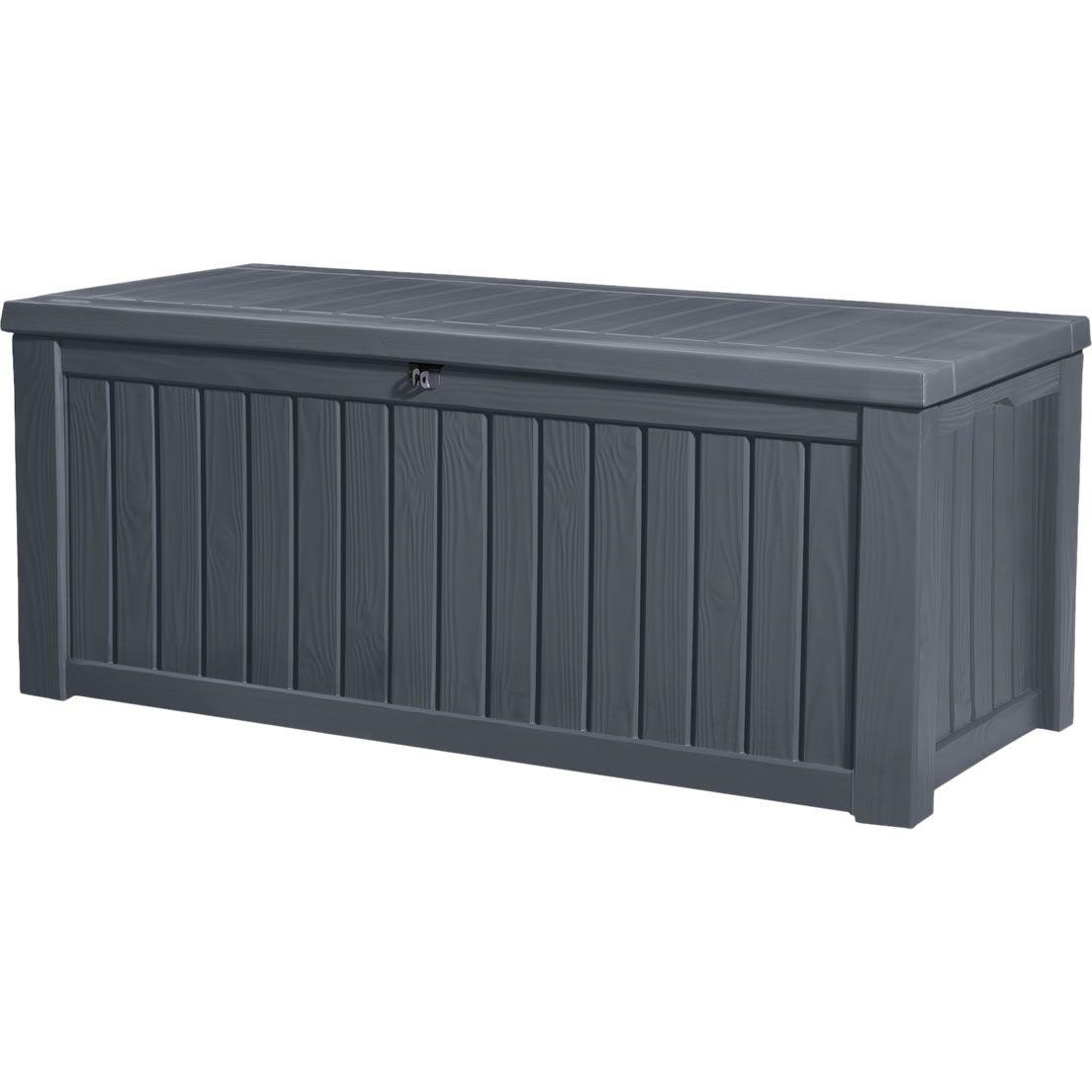 Keter rockwood storage box anthracite outdoor storage