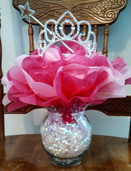 Princess Baby Shower Centerpiece Easy Inexpensive To Make