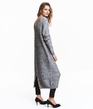 Kleid aus Wollmischung | Graumeliert | Damen | H&M AT ...