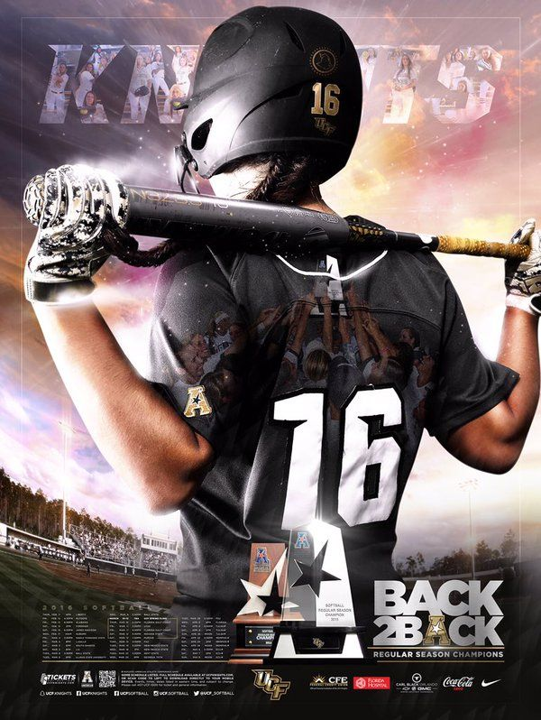 2016 Central Florida Softball Schedule Poster
