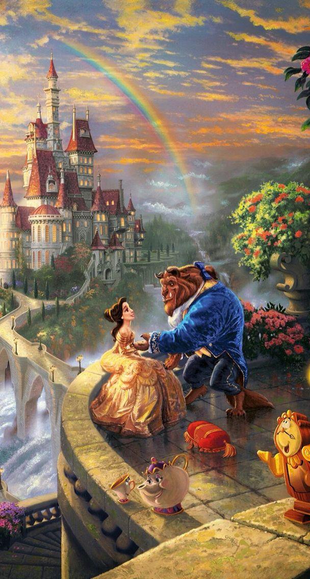 beauty and the beast belle Kinkade disney, Thomas