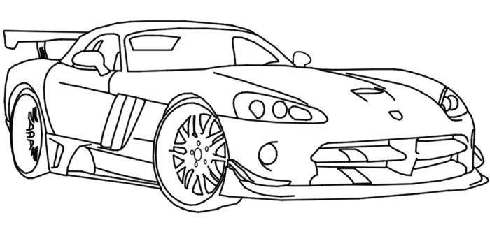 dodge viper coloring page