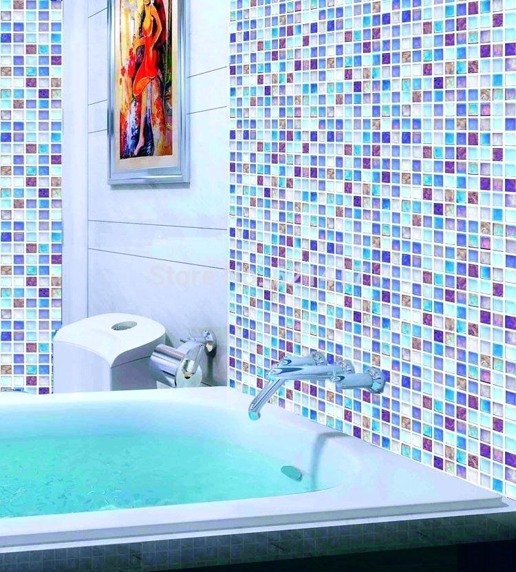 Multi Colored Subway Travertine Mosaic Backsplash Tile Online Shop Multicolor Blue Glass Mosaic Til Beadboard Backsplash Farmhouse Backsplash Marble Backsplash