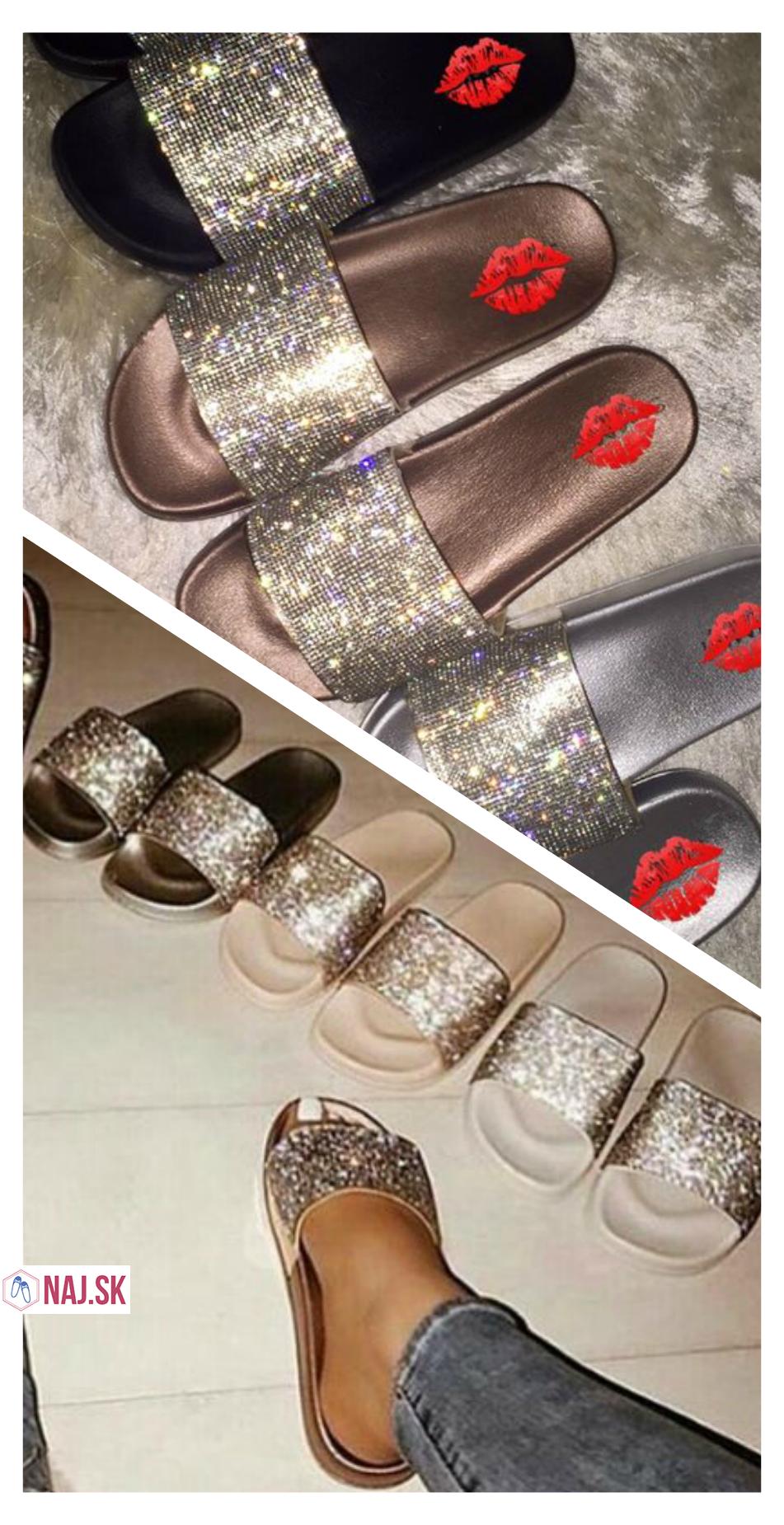 cfb661b8fdf7f trblietavé papuče, šľapky, slippers, ružové papuče na doma, strieborné  papuče, čierne papuče, papučky, naj.sk, topánky