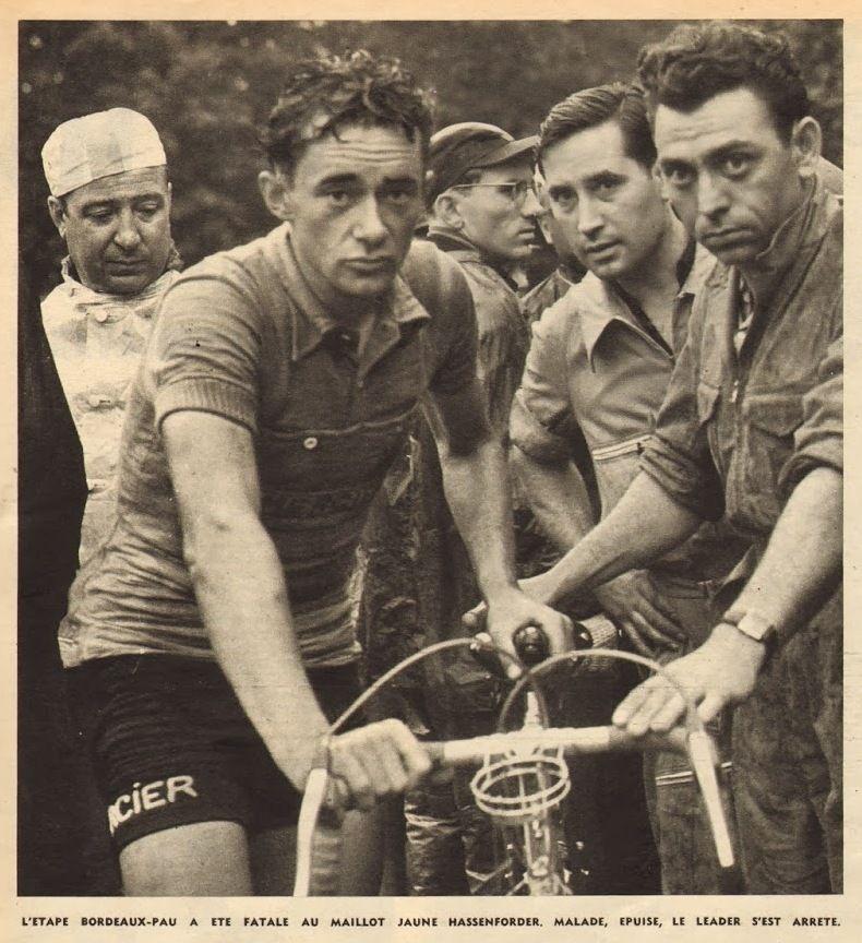 Tour de france 1953 9 tappa 12 luglio bordeaux pau for Histoire du miroir