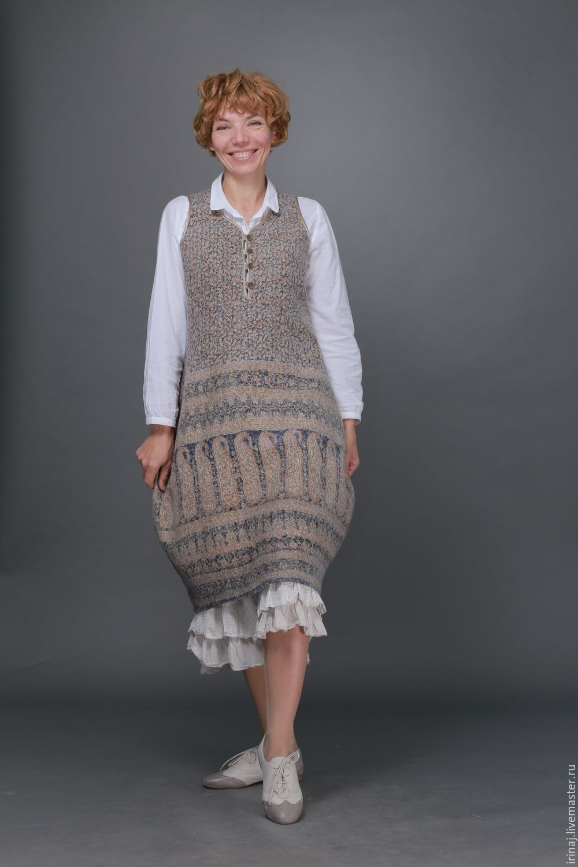 """Купить валяный сарафан """"Катюша"""" - платье, платье валяное, платье авторское, платье ручной работы"""