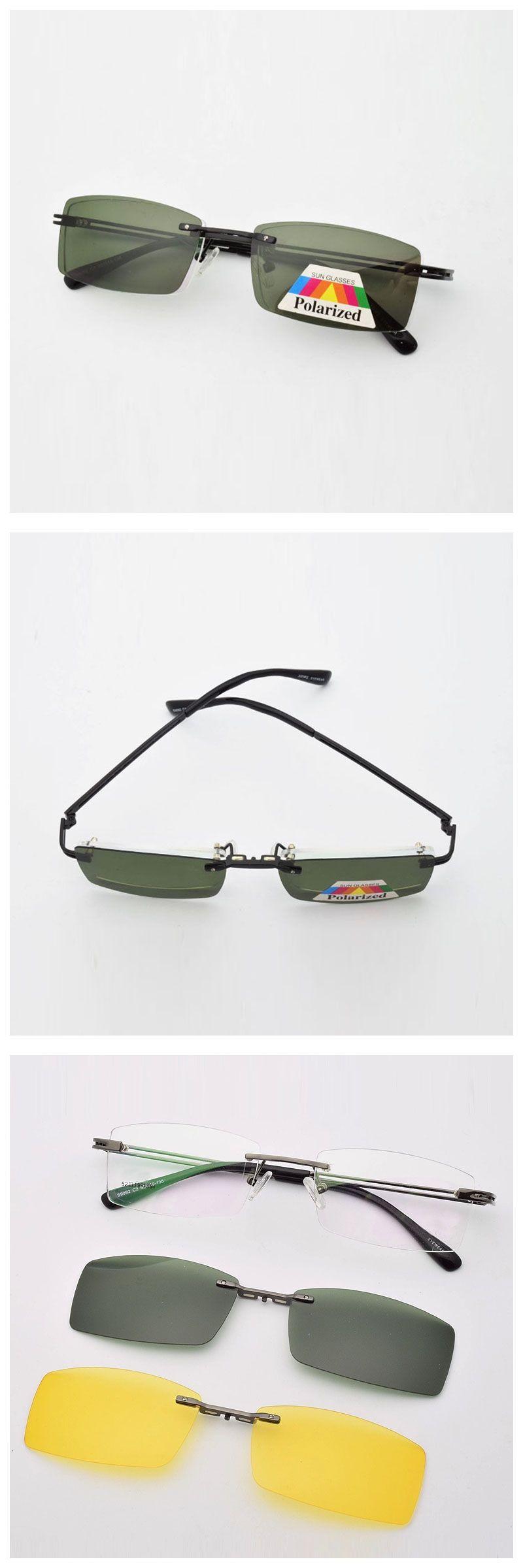 Frame Free Glasses Frame With Magnet Clip Film Myopia Gray Glasses