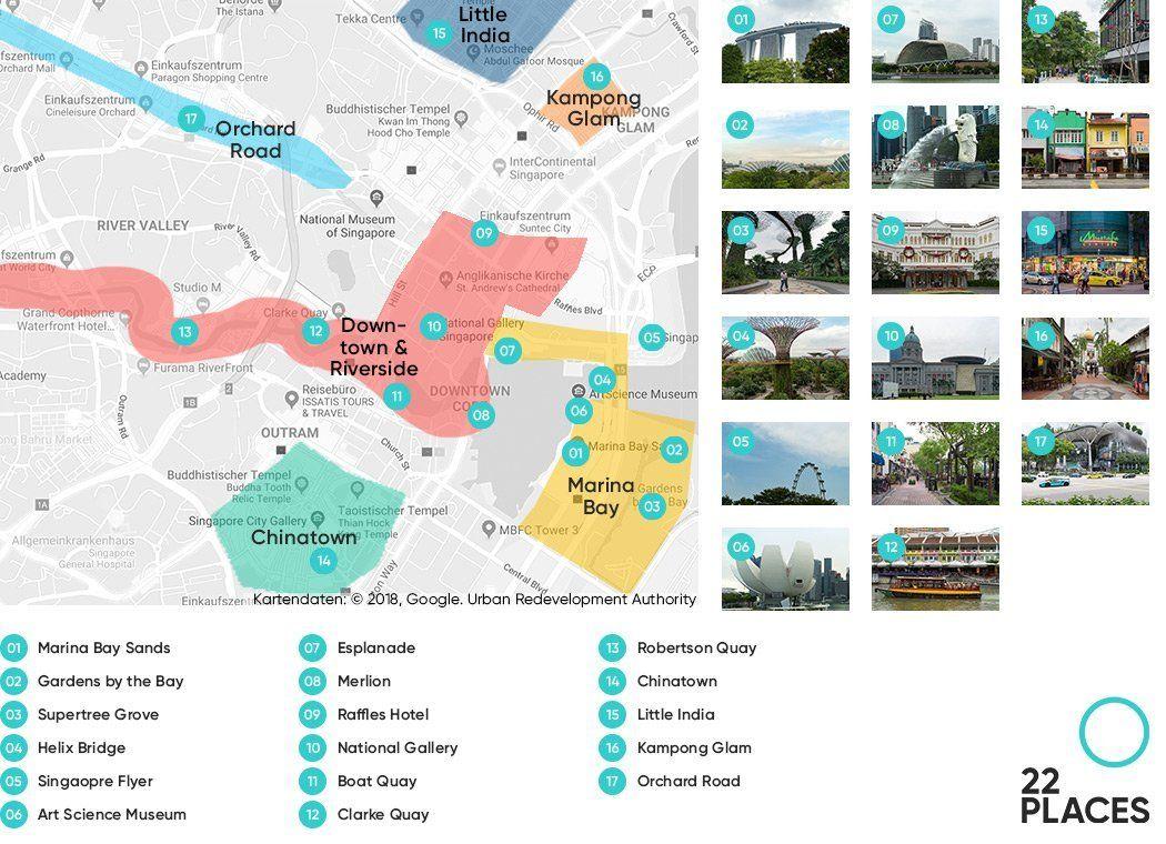 Singapur Sehenswurdigkeiten Unsere Highlights Karte In 2020