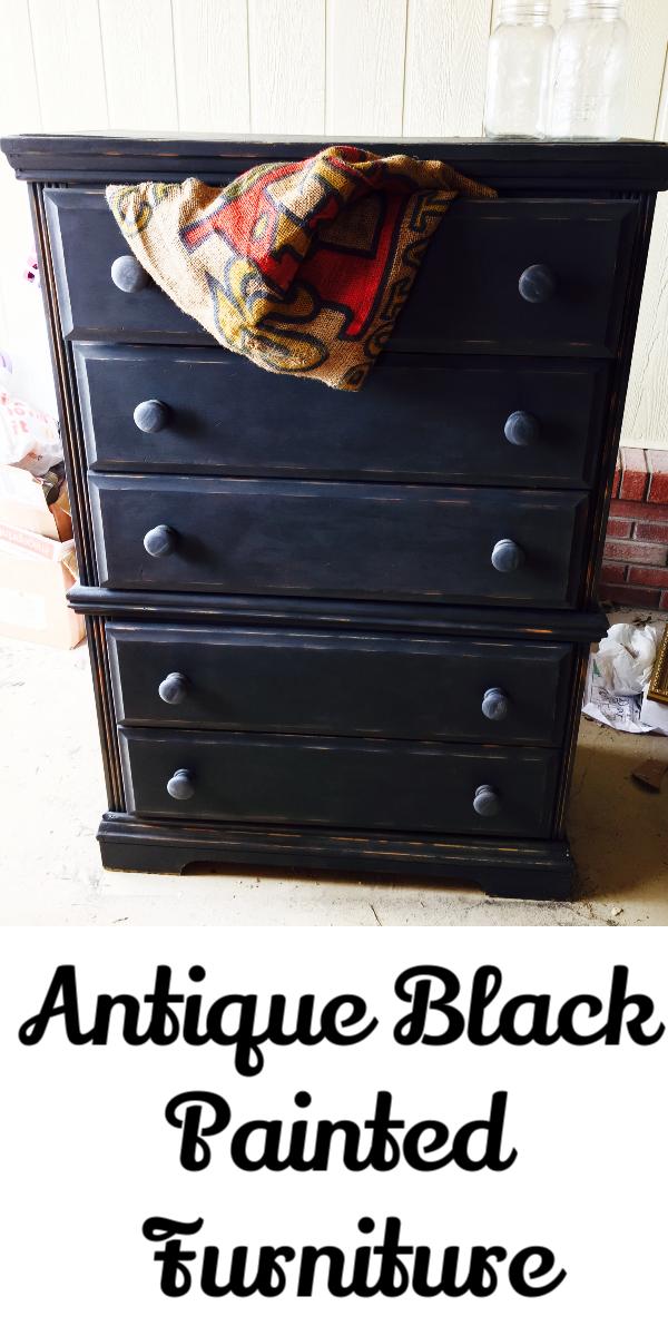 How To Antique Black Paint Furniture Let S Paint Furniture Black Painted Furniture Paint Furniture Painting Wood Furniture