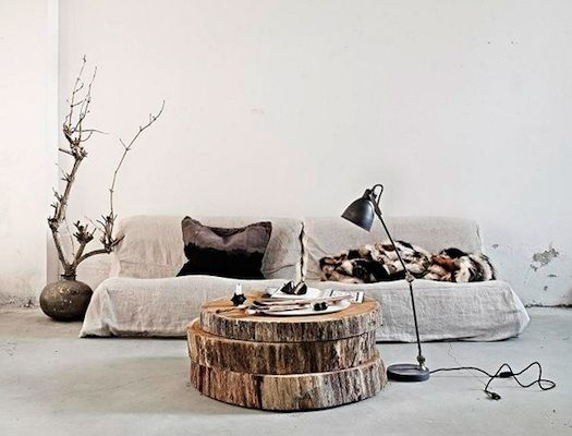 stacked tree trunk coffee table  For the Home  Pinterest
