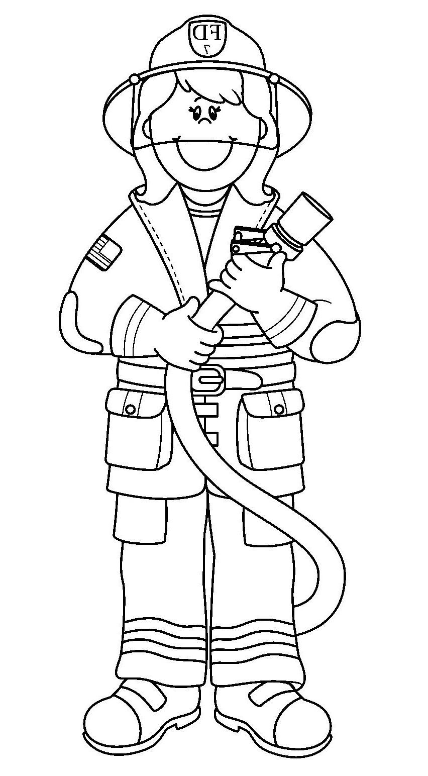 25 Amazing Image Of Fireman Coloring Pages Davemelillo Com Cartoon Coloring Pages Firefighter Clipart Coloring Pages