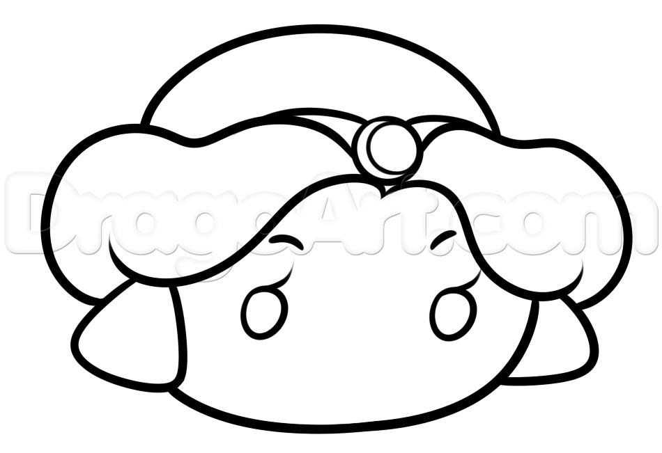 Como Dibujar Y Pintar A Tsum Tsum De Ariel 2: How To Draw Tsum Tsum Jasmine