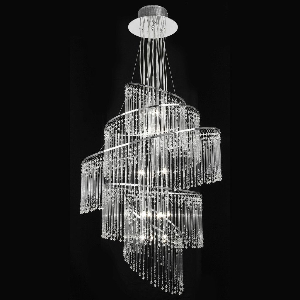 Endon Bathroom Ceiling Lights endon lighting camille-24ch camille 24lt pendant 10w clear glass