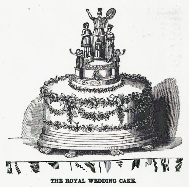 A Period Depiction Of Queen Victoria S Wedding Cake Recipe For The