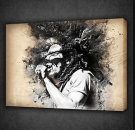 Bob Marley Grunge Style Reggae Music Wall Art Canvas Print Picture Music Wall Art Canvas