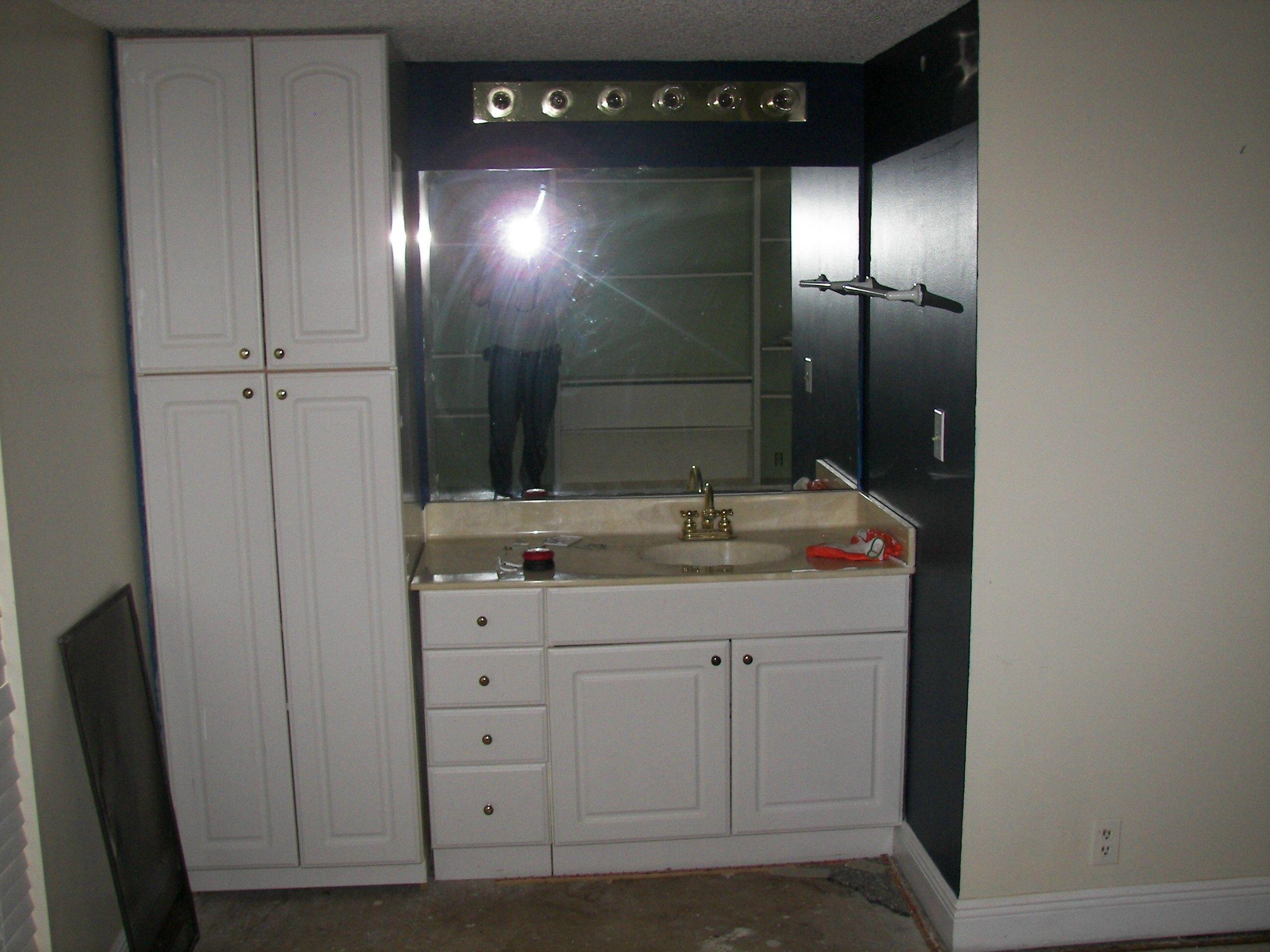 1st Floor Vanity - Before Renovation