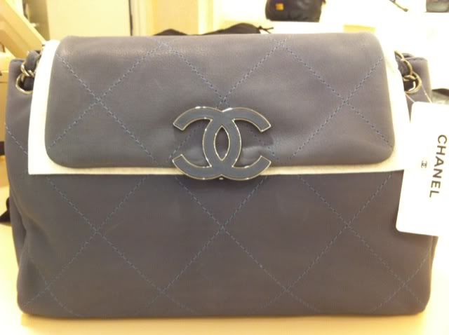 Chanel Grey Hampton Flap Tote Large Bag
