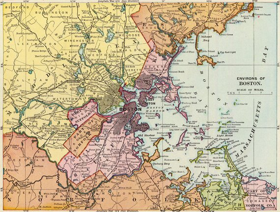 Antique Boston Digital Map Printable Map Of Boston Boston Poster World Map Printable Europe Map Boston Poster