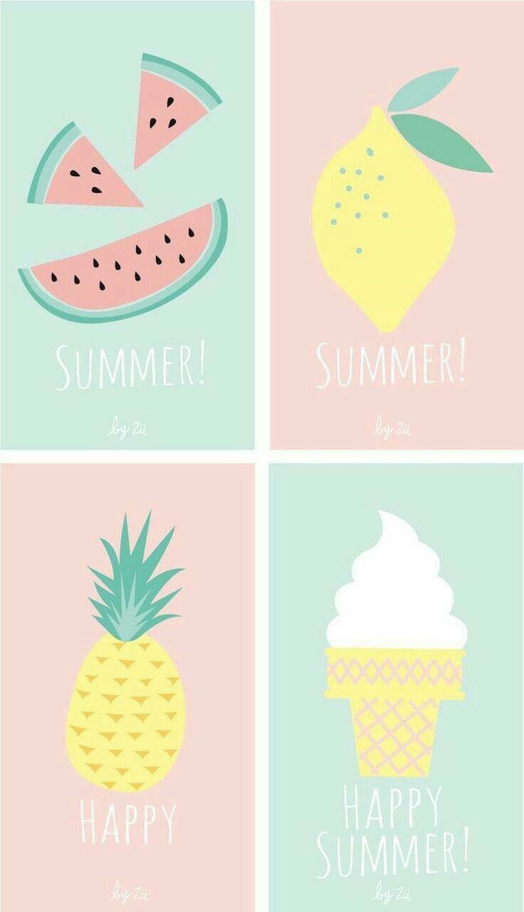 Summer Tumblr Wallpaper Pastel Melone Eis