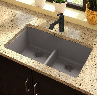 Elkay Quartz Classic 33 L X 19 W Double Basin Undermount Kitchen