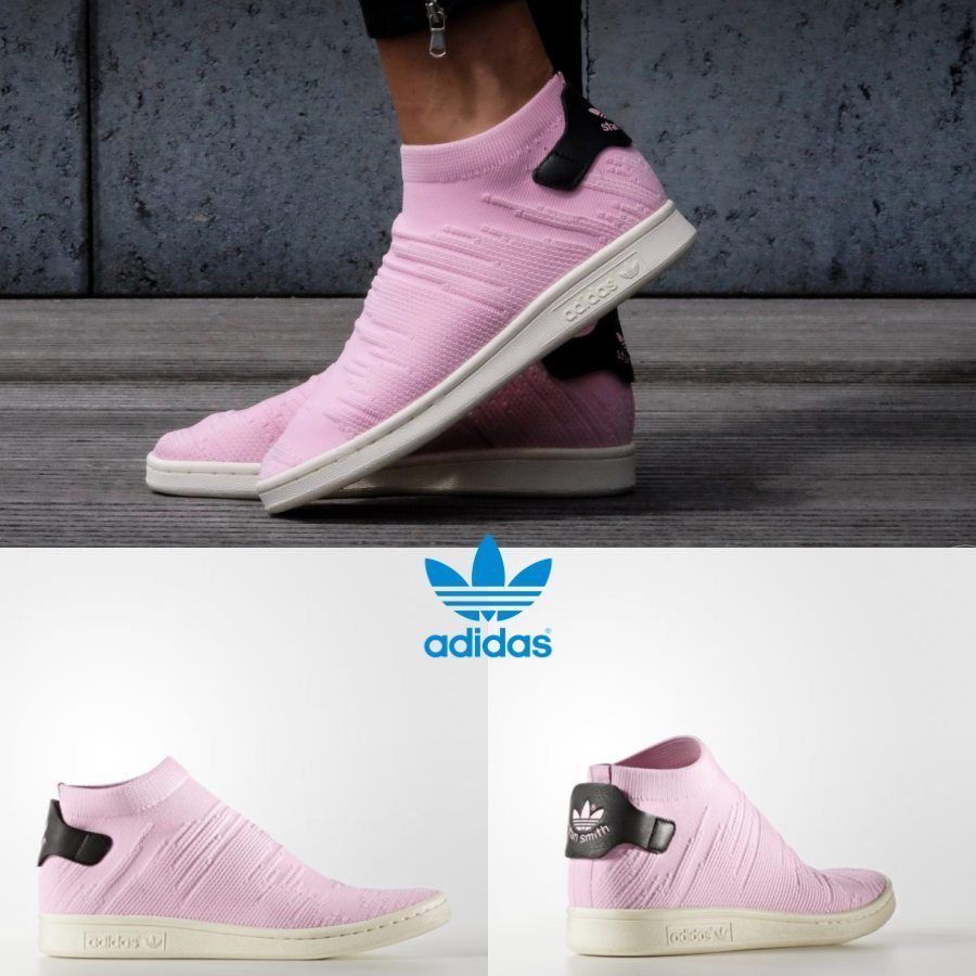 best service dcf50 c0faa Adidas Original Stan Smith Sock PK Sneakers Pink Black BY9250 Limited SZ  4-11