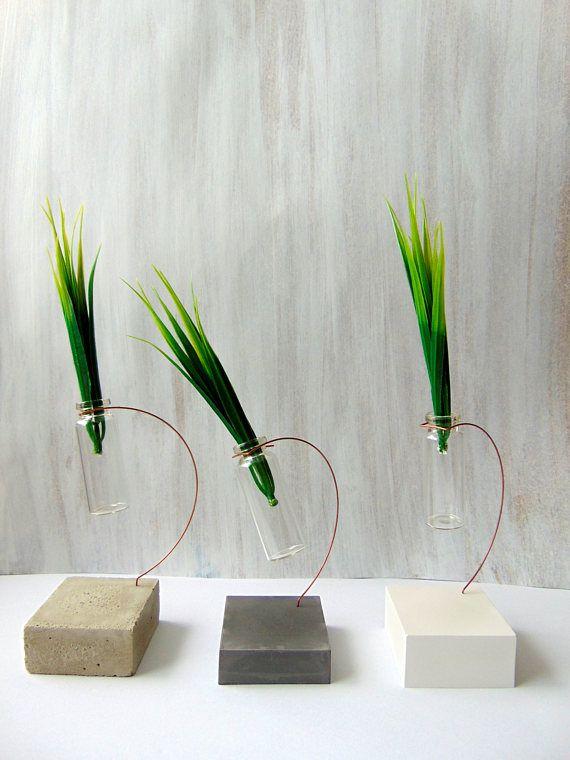 Concrete Vаse Mini Bottle Vase Hanging Glass Vase