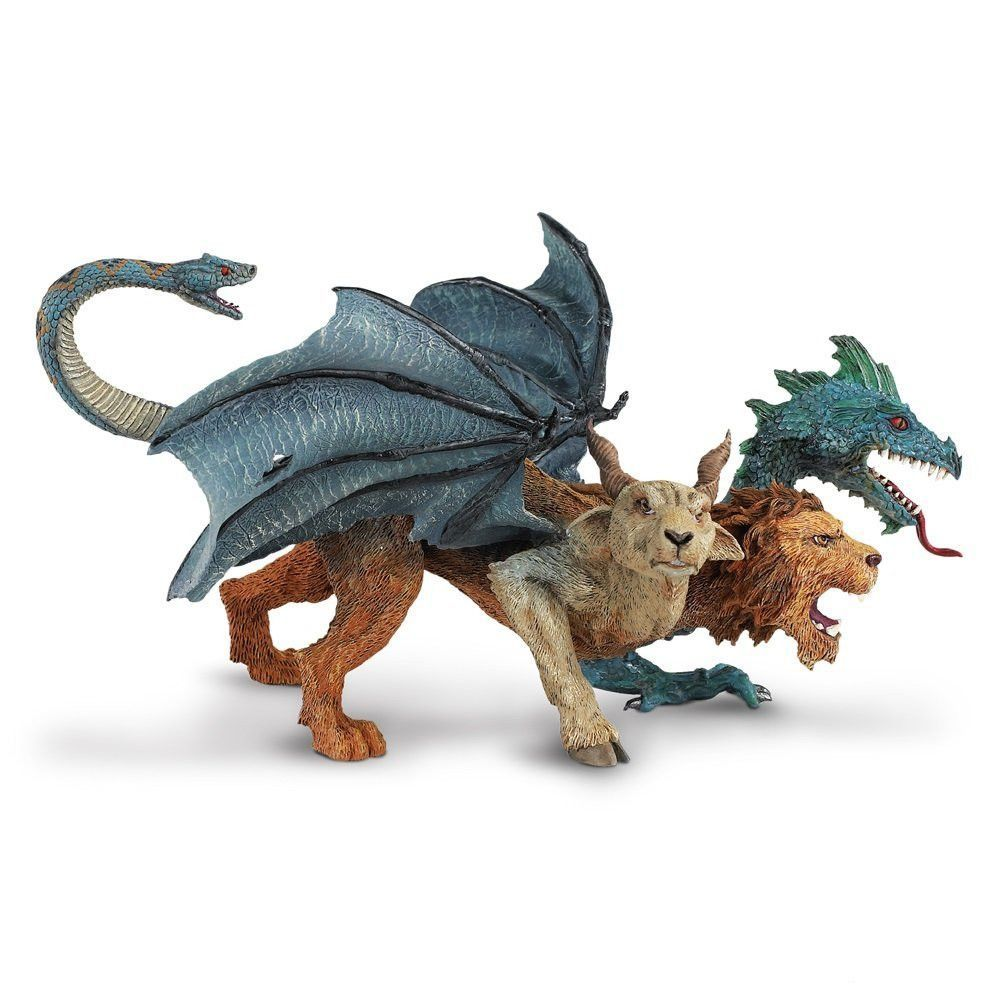Mythologique Red Fire Dragon Monstre Figurine Créature Cartoon Hercules Toy