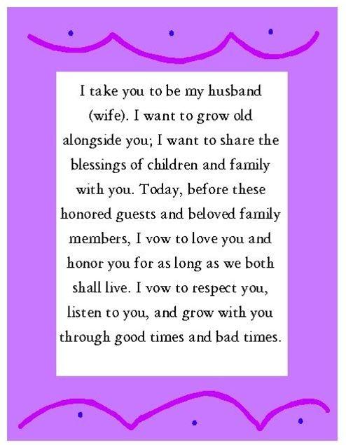 Wedding Vows Wednesday 4 24 13